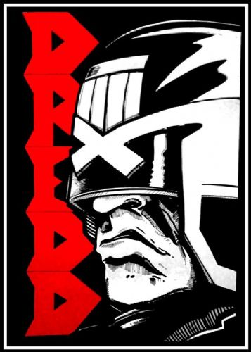 2000AD - JUDGE DREDD - BLACK AND RED ART canvas print - self adhesive poster - photo print